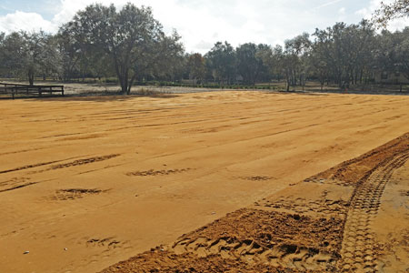 Land grading in Florida using laser grading technology.